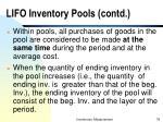 lifo inventory pools contd78