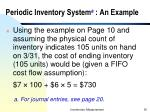 periodic inventory system a an example