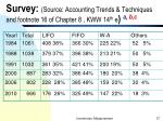 survey source accounting trends techniques and footnote 16 of chapter 8 kww 14 th e a b c