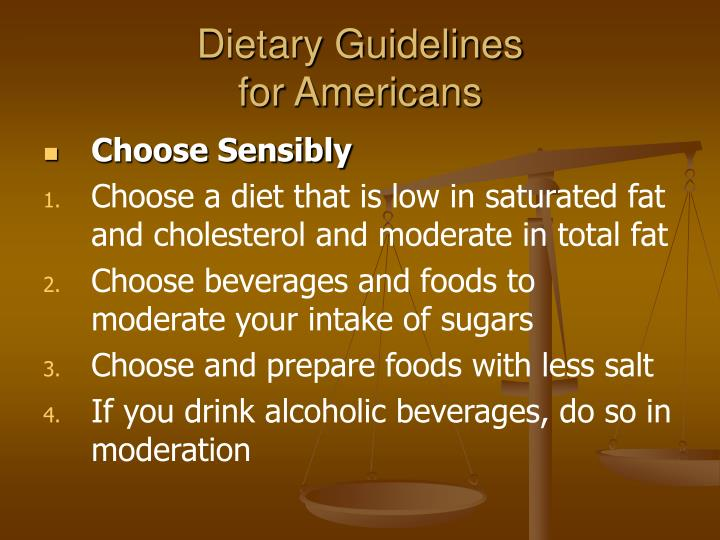 Dietary guidelines for americans3