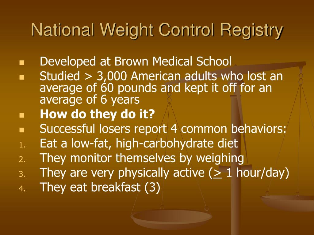 National Weight Control Registry