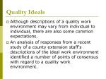 quality ideals