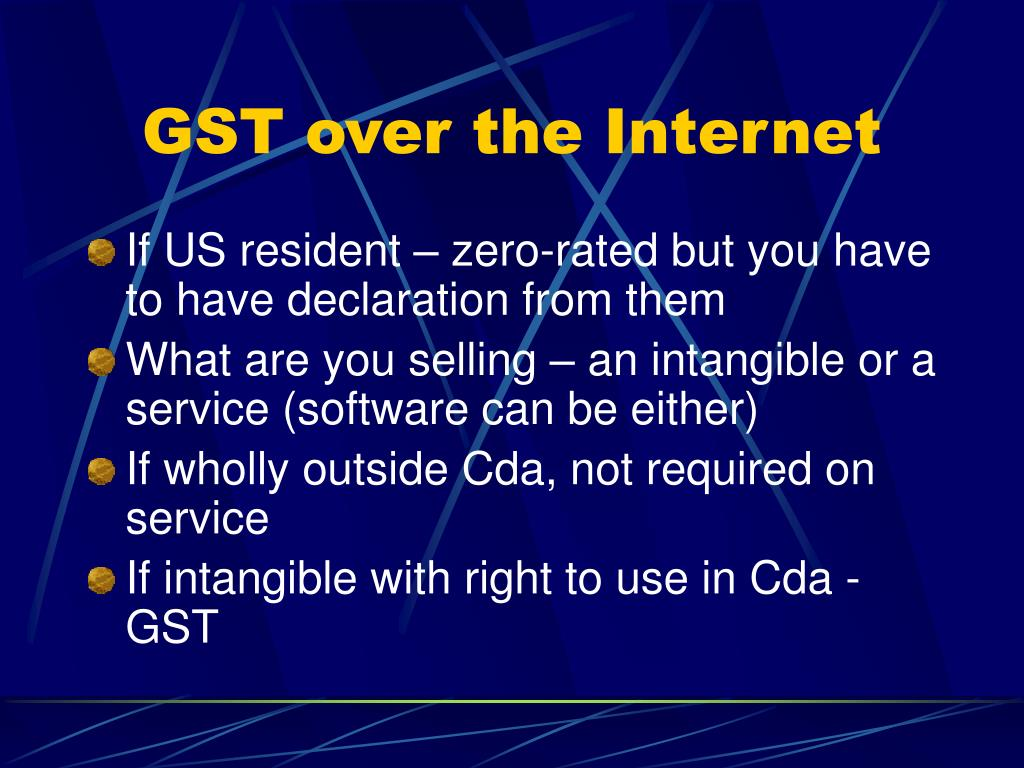 GST over the Internet