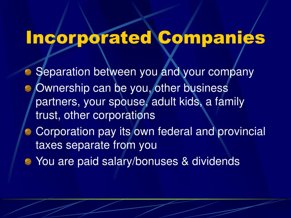 Incorporated Companies