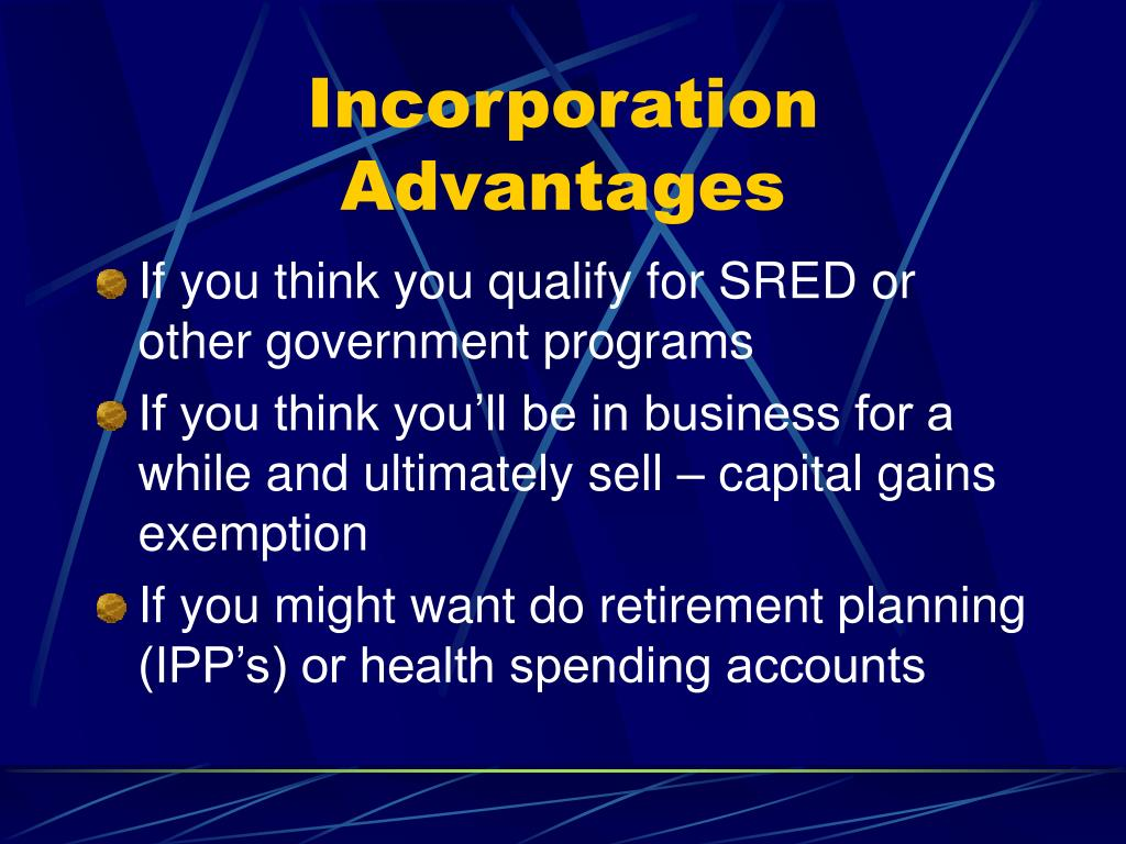Incorporation Advantages
