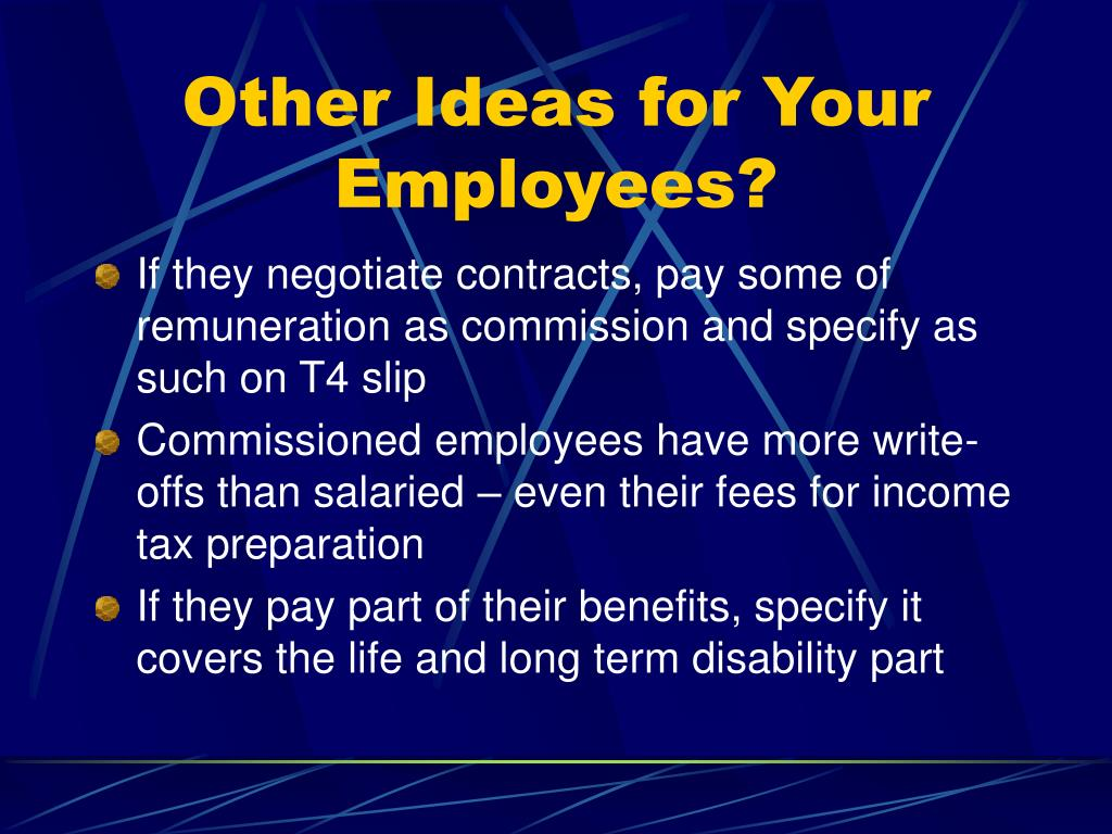 Other Ideas for Your Employees?