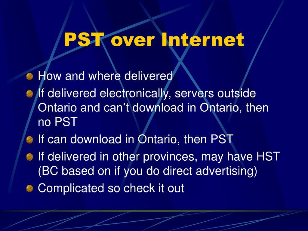 PST over Internet