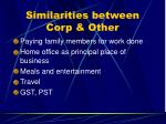 similarities between corp other