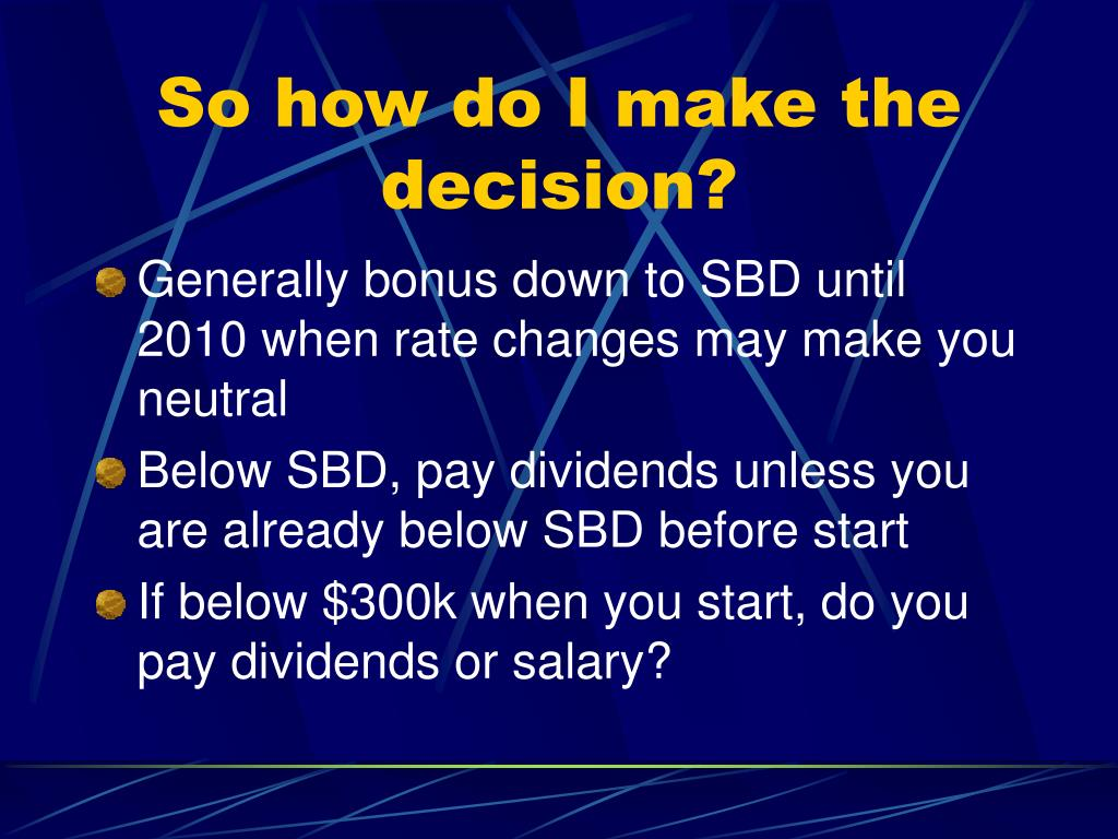 So how do I make the decision?