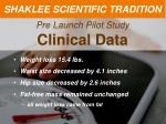 pre launch pilot study clinical data