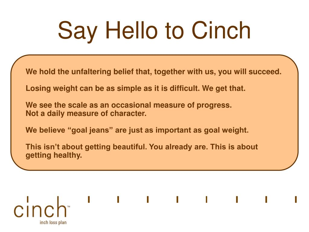 Say Hello to Cinch