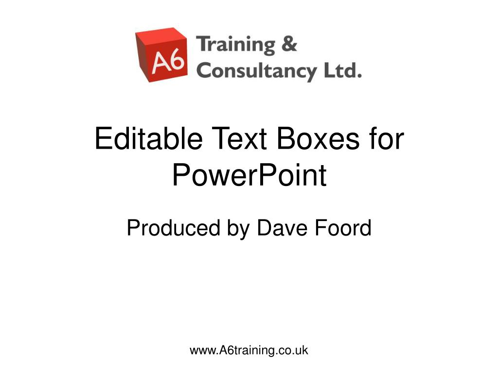 editable text boxes for powerpoint l.