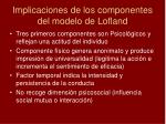 implicaciones de los componentes del modelo de lofland