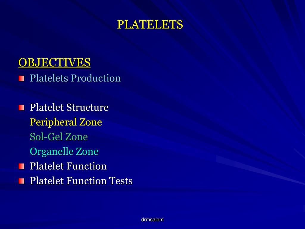 platelets l.