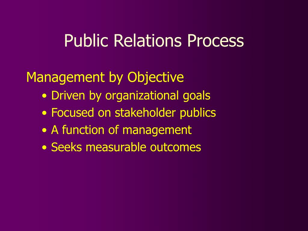 public relations process l.