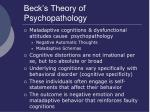 beck s theory of psychopathology