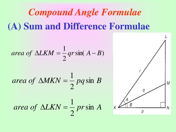 Compound angle formulae3
