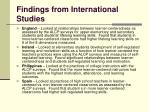 findings from international studies