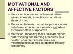 motivational and affective factors