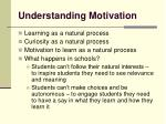 understanding motivation