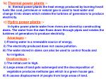 b thermal power plants