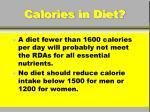 calories in diet