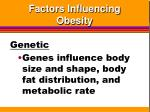 factors influencing obesity