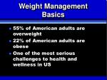 weight management basics