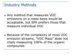 industry methods