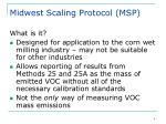 midwest scaling protocol msp