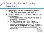 controlling for confounding stratification
