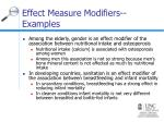 effect measure modifiers examples