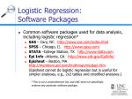 logistic regression software packages