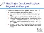matching conditional logistic regression examples