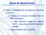 casos de ajuste anual