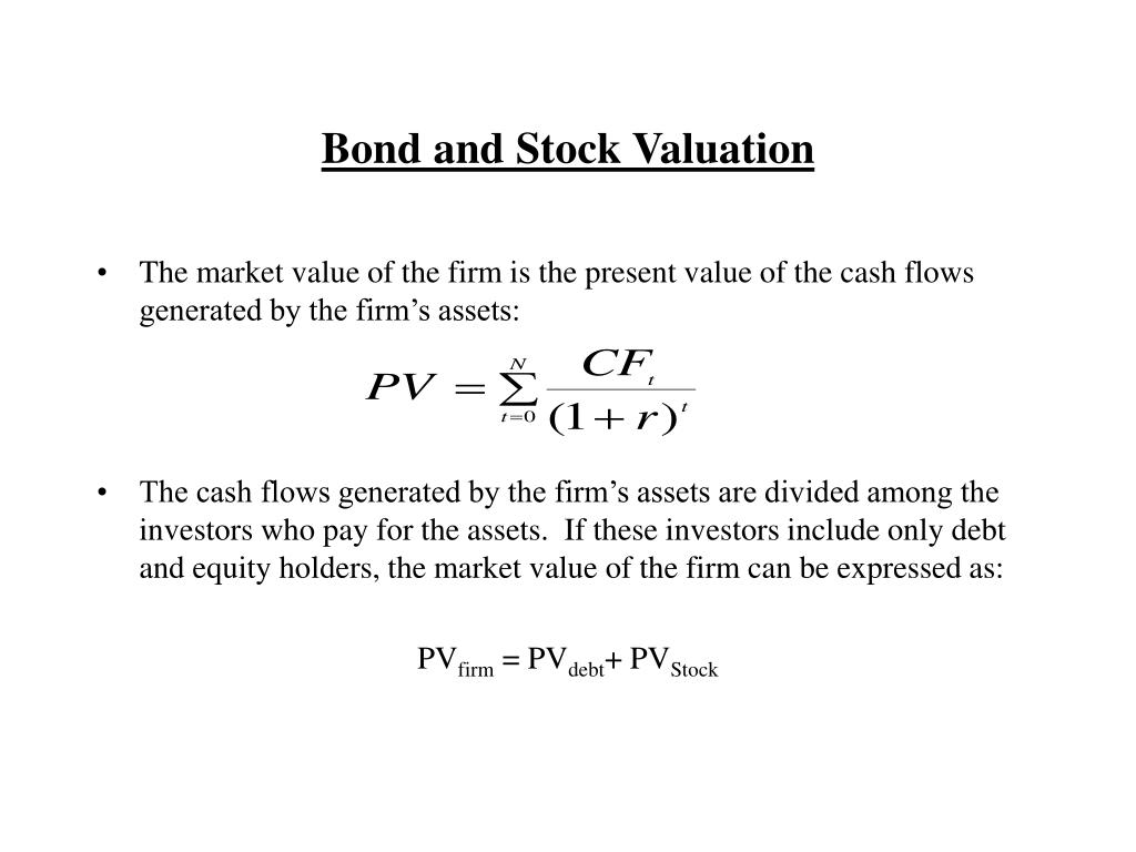 bond and stock valuation l.
