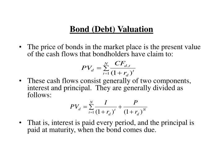 Bond debt valuation