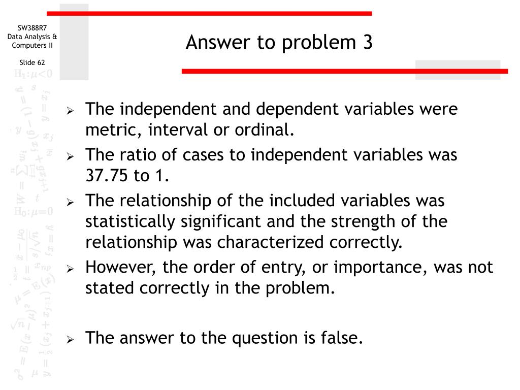 Answer to problem 3