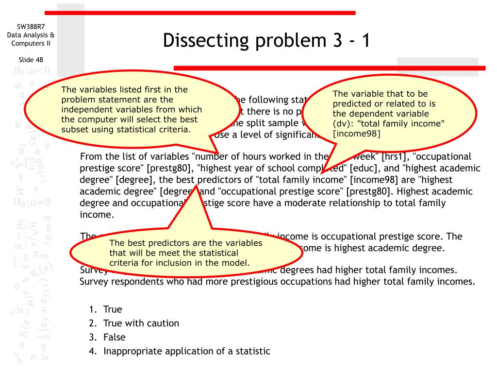 Dissecting problem 3 - 1