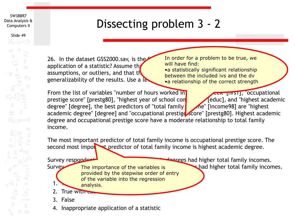Dissecting problem 3 - 2