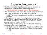 expected return risk