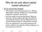 why do we care about capital market efficiency25