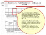 selecting the model to interpret evidence and answer