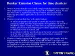 bunker emission clause for time charters
