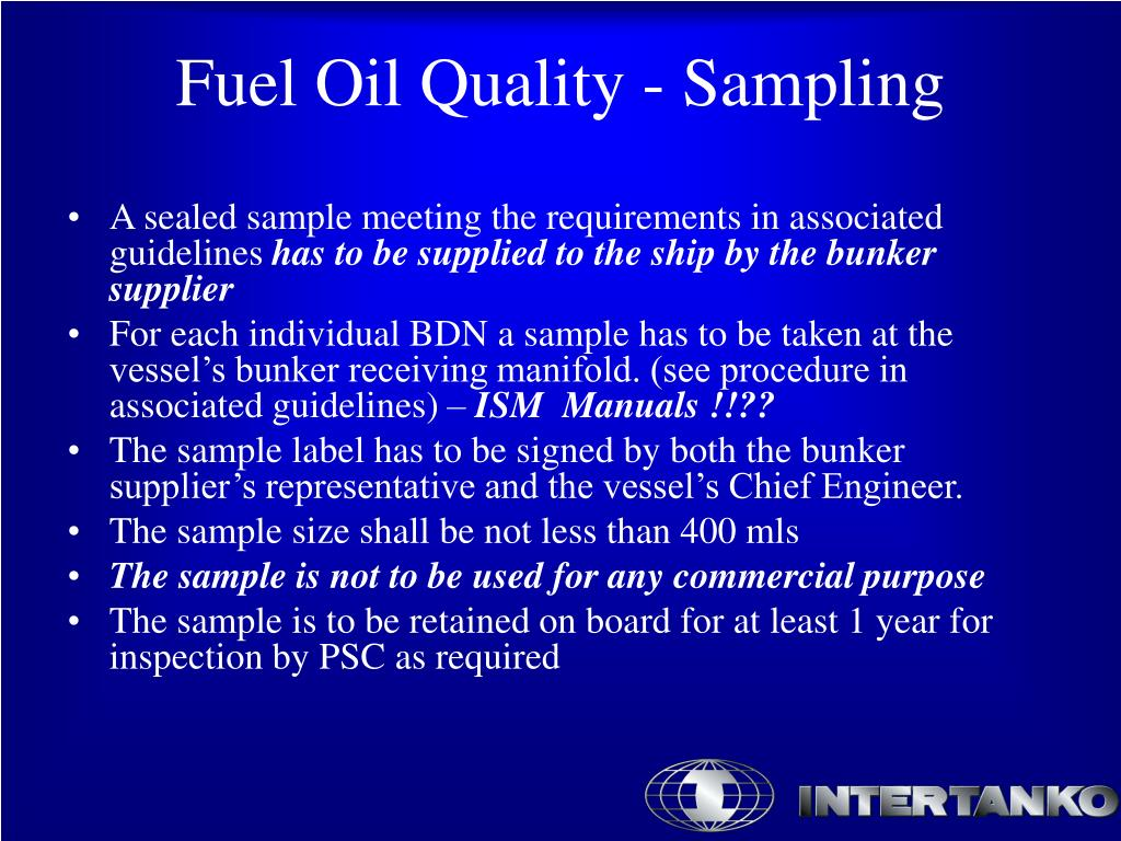 A sealed sample meeting the requirements in associated guidelines