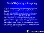 fuel oil quality sampling