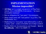 implementation mission impossible