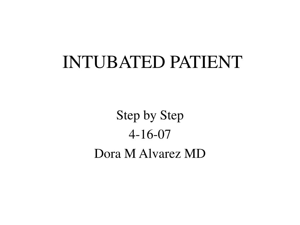 intubated patient