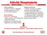 attivit respiratoria