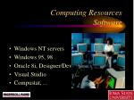 computing resources software